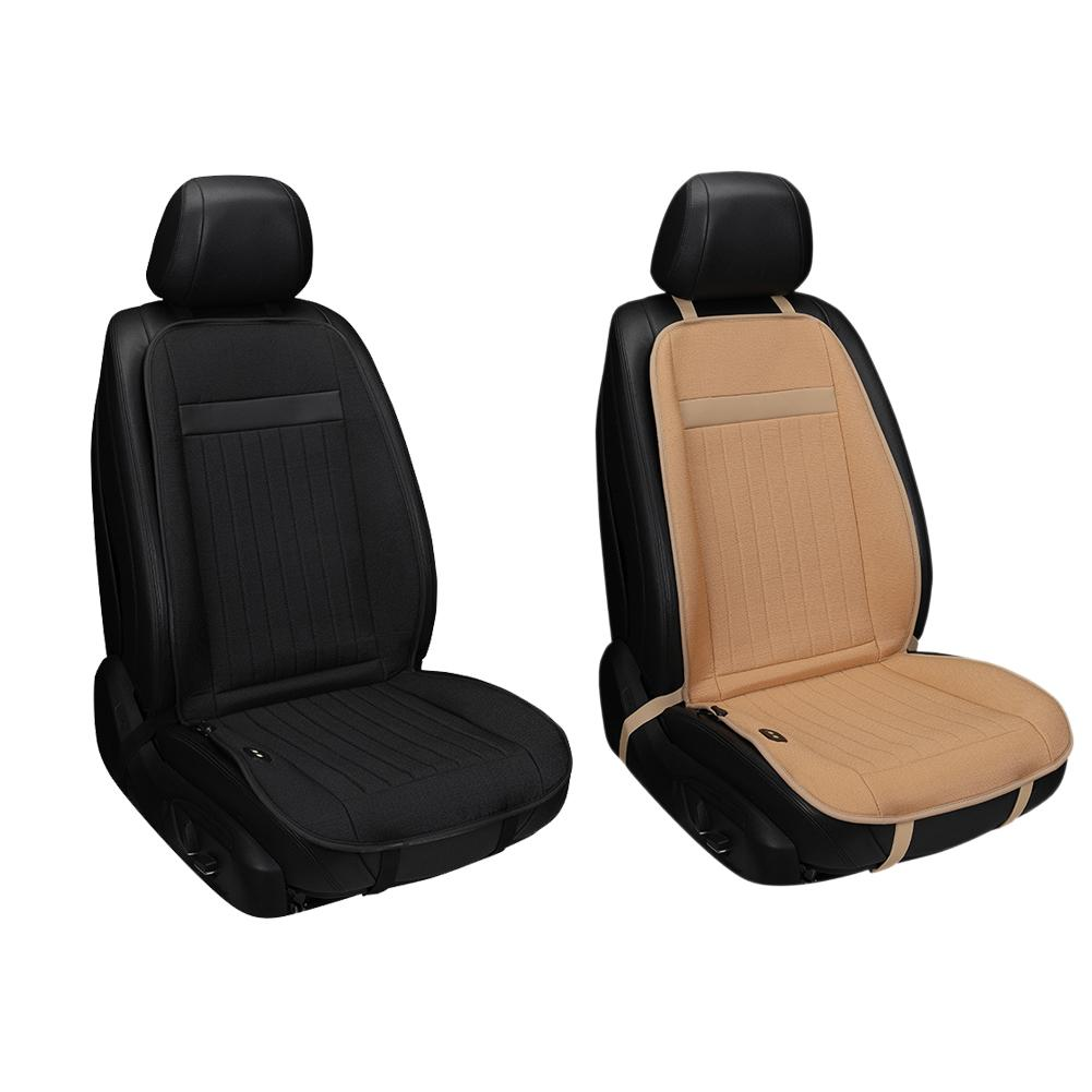 Car seat Heat Pad, 12V DC Seat Heater Seat Warmers Universal Heated Cushion for Home, Car and Office (Single seated)