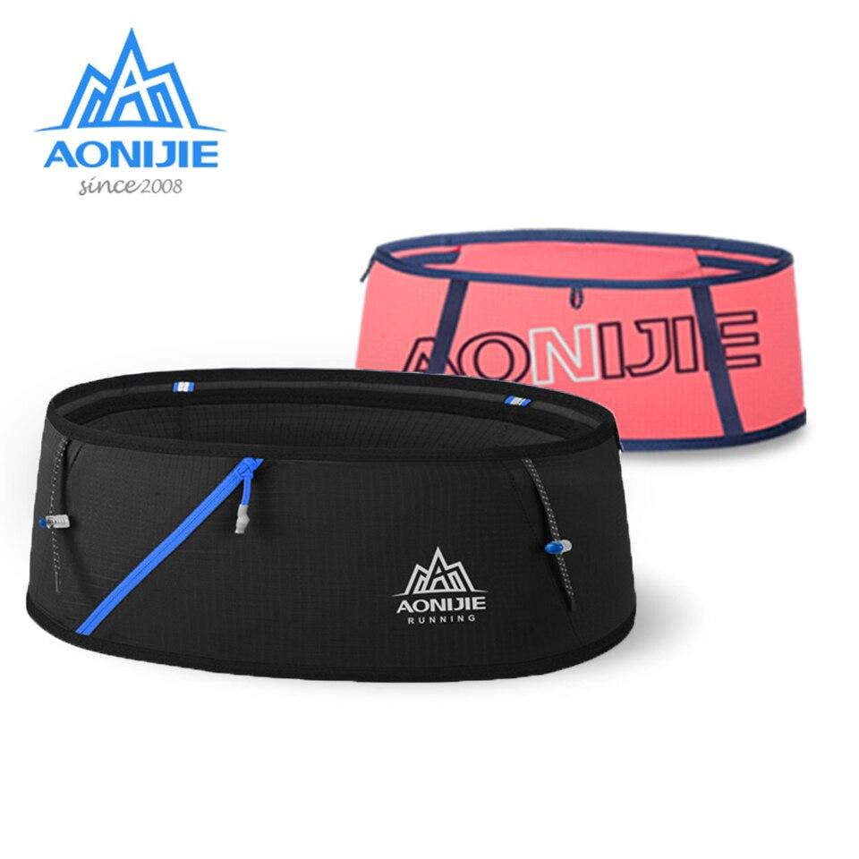 AONIJIE 4-стороннее растяжение гидратации беговое полотно поясная сумка, дорожная сумка для телефона сумка Trail марафон тренажерный зал Фитнес м...
