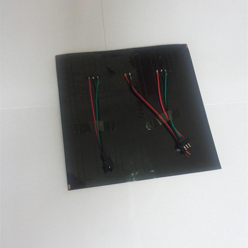 1 pièces/lot DC5V 16x16 Pixel WS2812B LED numérique Flexible individuellement adressable panneau lumineux 5