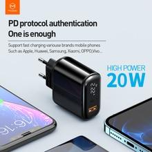 Caricabatterie USB Mcdodo 20W caricabatterie rapido 3.0 PD caricabatterie rapido per iPhone 11 Pro Max X XR XS Xiaomi Samsung S10 9 Huawei
