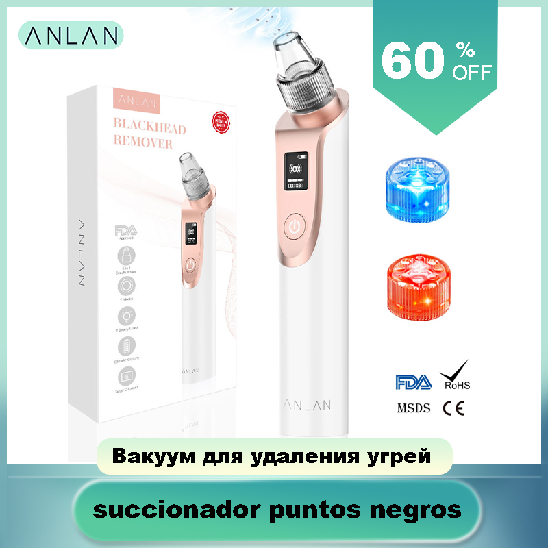 ANLAN Blackhead Remover Vacuum Pore Cleaner Acne Comedones  Removal Black Head Remover Face Care Pimples Tools Comedone  ExtractorFace Skin Care Machine