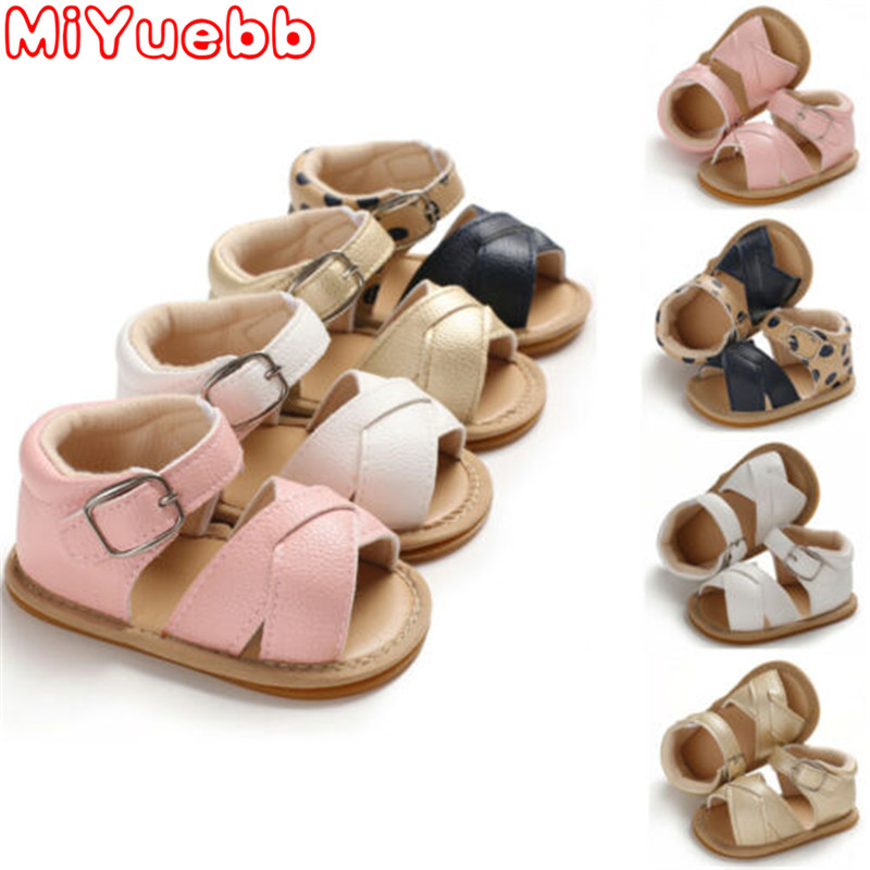 Summer New Fashion Kids Shoes Boy Girl Sandals Newborn PU Soft Sole Flat Heel Rubber Sole 2020 New Children Popular Garden Shoes