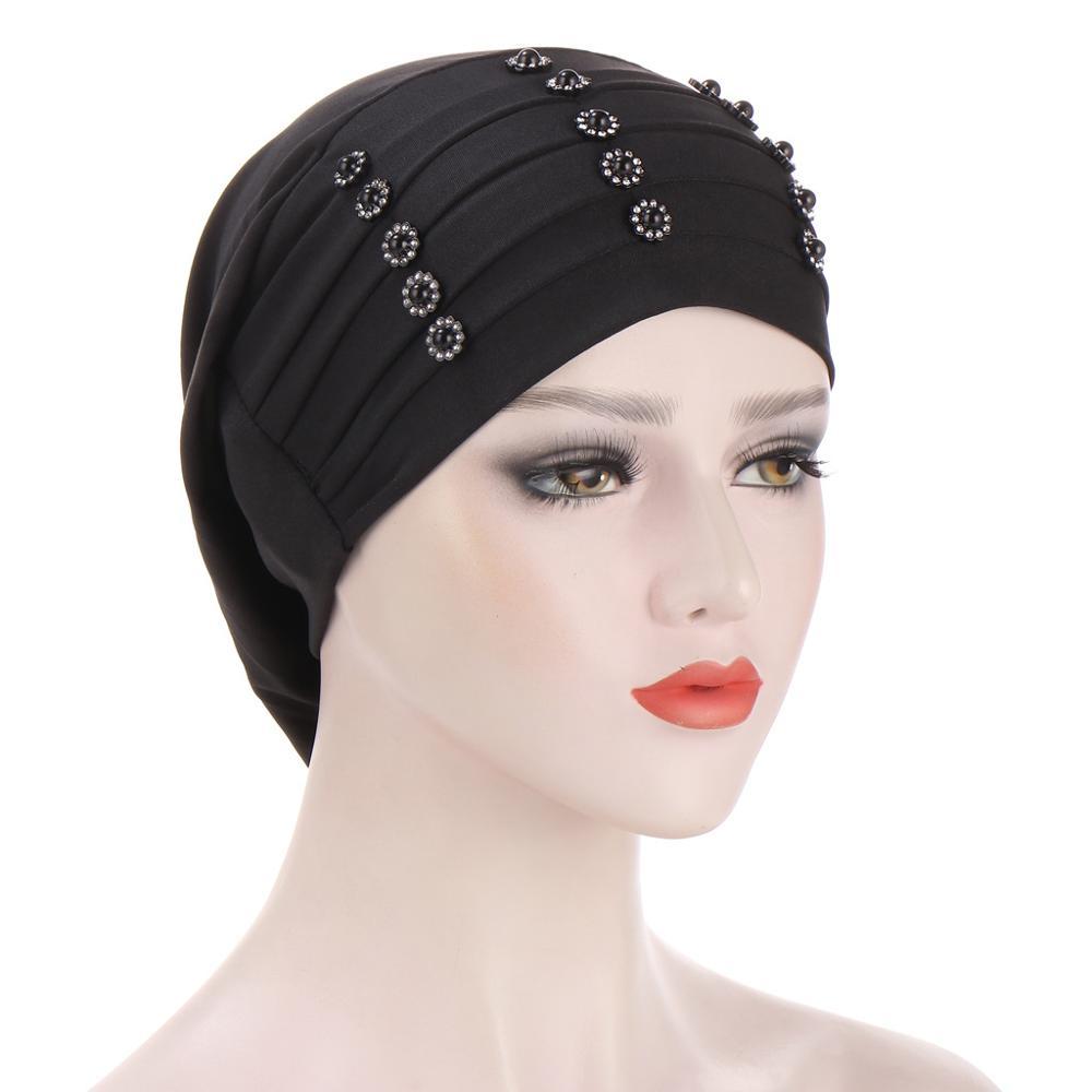 2020 новый гофрированный бисер тюрбан шляпа мусульманская Мода