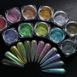 Holographic Laser Glitter Powder Nail Art Pigment Shining Gradient Dipping Sequin Mirror Chorme SpangleNail Polish Dust LY1028-1(China)