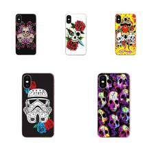 For Xiaomi Mi3 Mi4 Mi4C Mi4i Mi5 Mi 5S 5X 6 6X 8 SE Pro Lite A1 Max Mix 2 Note 3 4 TPU 2017 New Arrival Skull Trooper(China)