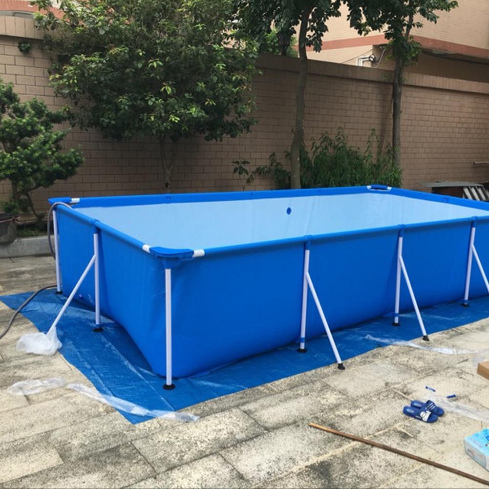Pool Cover Rainproof Dust Cover Waterproof Tarp Rectangular Swimming Pool Cover Frame Pool Cover Family Garden