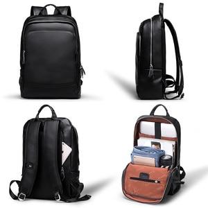 Image 3 - Leilang mochila masculina de couro, mochila masculina simples de alta qualidade feita em couro, ideal para viagens, lazer, computadores