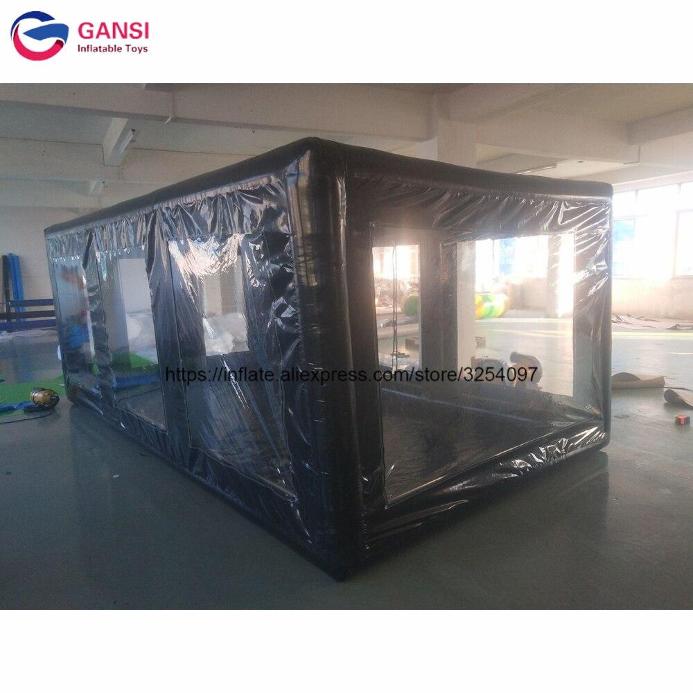 Tente gonflable noire de bâche de voiture de trapaulin de pvc de tente gonflable de lavage de voiture de 5x2.8x2m à vendre