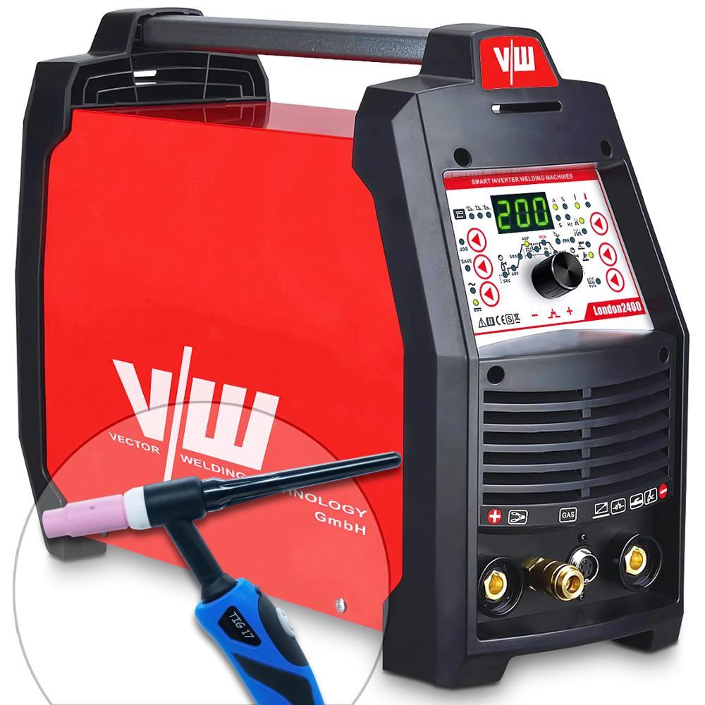 Tig Welder 220V 4in1 AC DC electrode inverter MMA Tig 200a CDC TIG Pulse TIG welder
