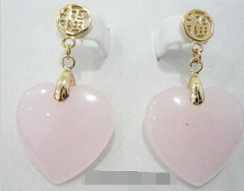 Paire Violet Jade Drop 18KGP Fortune Dangle Earrings