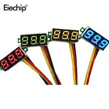 Цифровой светодиодный мини Дисплей 0,28 дюйма, модуль постоянного тока 0-100 в вольтметр тестер напряжения Светодиодная панель метр 0,28