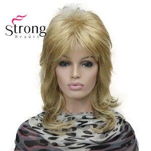 Image 5 - StrongBeauty sarışın vurgulanan uzun yumuşak katmanlı sevişmek sentetik peruk kadınlar için