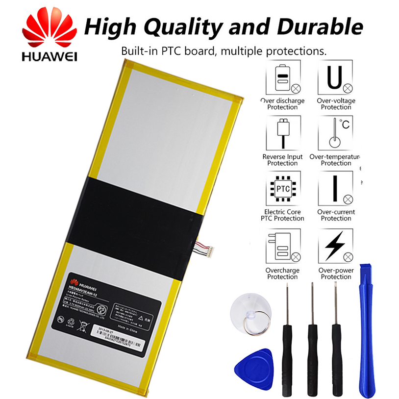 Mediapad 10 linktablet original bateria para huawei S10-201WA hb3x1 6020mah + ferramenta HB3484V3EAW-12
