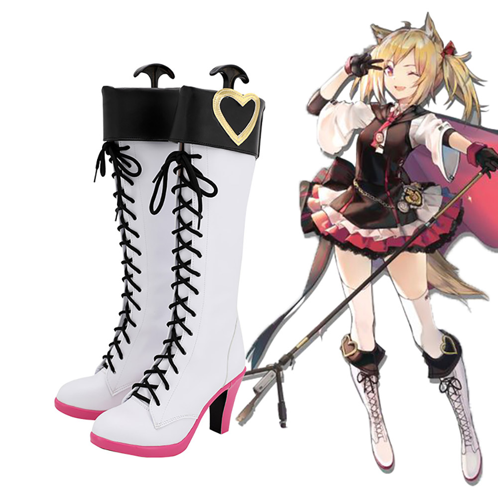 Game Arknights Sora Cosplay Boots White Shoes Sora High Heel Boots Custom Made