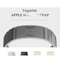 Ремешок из нержавеющей стали для Apple Watch band 4 44 мм 40 мм стальной полосы iwatch 5 4 3 группа 42 мм 38 мм 36L металлический браслет для часов