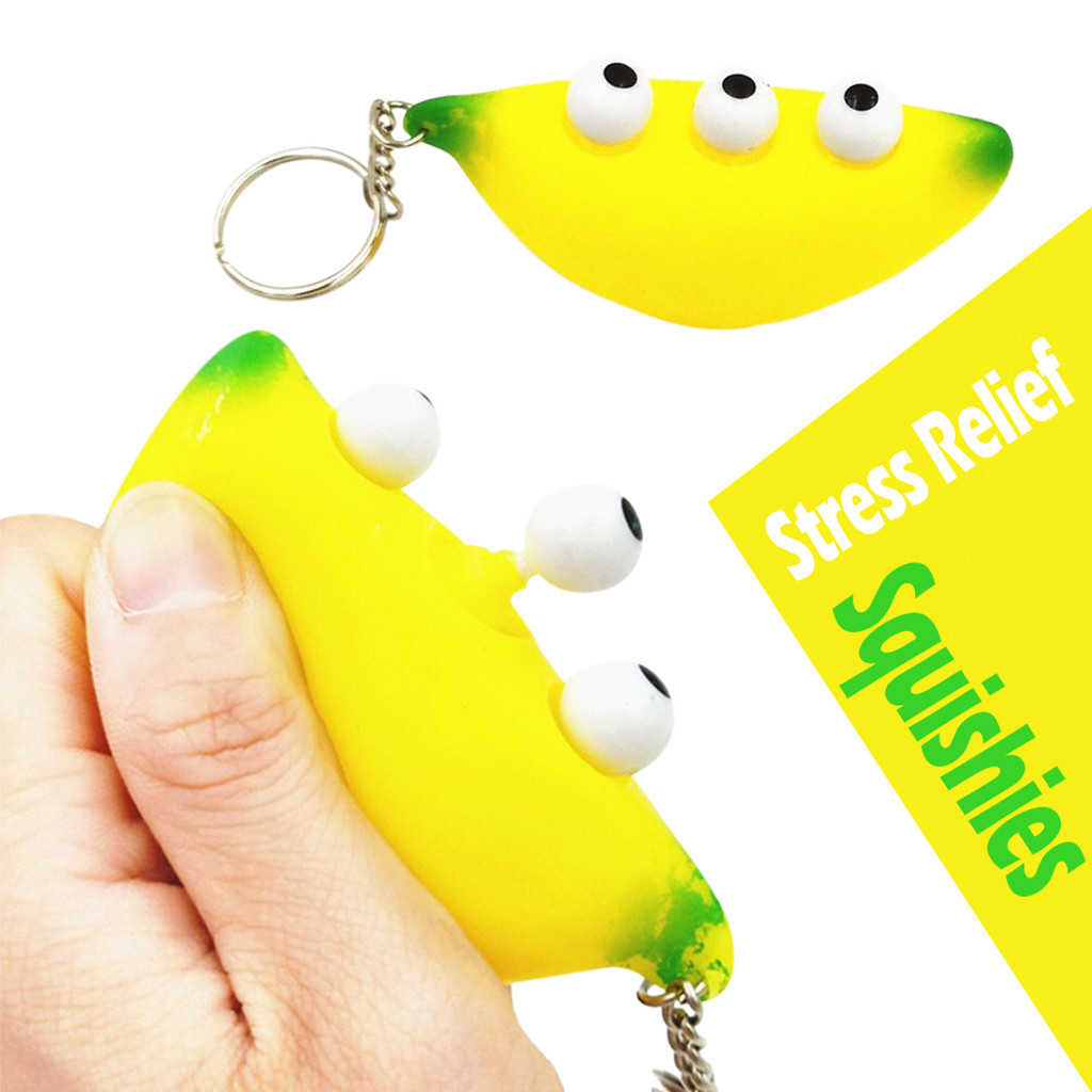Toys For Children Banana Keychain Stress Reliever Scented Super Slow Rising Kids Squishy Toys Kids Toys Baby Toys Juguetes