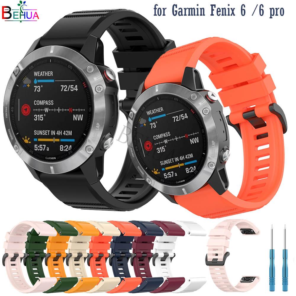 22 26mm Silikon Armband Für Garmin Fenix 6X 5X fenix 3 3HR Quick Release Einfach fit Handgelenk Gurt band Für Garmin Fenix 6 5 935