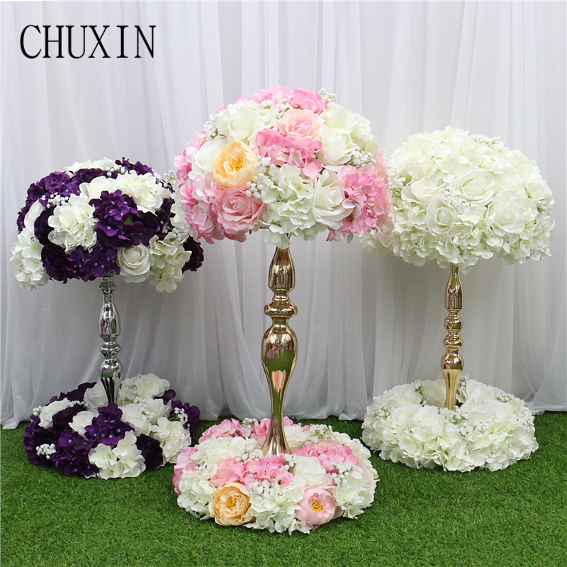 Image 2 - Customized artificial Gypsophila rose hydrangea flower ball home festival decoration wedding dining table road lead wreath 1pcArtificial & Dried Flowers   -