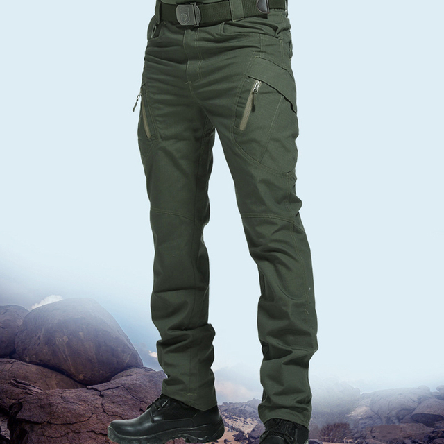 New Mens Tactical Pants Multiple Pocket Elasticity Military Urban Commuter Tacitcal Trousers Men Slim Fat Cargo Pant 5XL 2