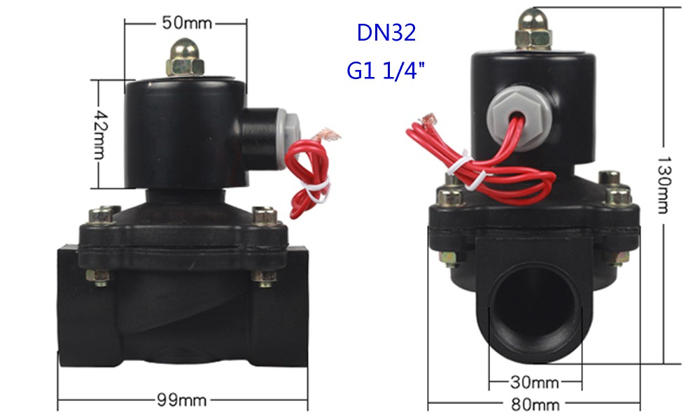 H5506a30ab1e946c2aaf6e263e6568a56d - DN08/10/15/20/25/32/40/50   AC 110V AC 220V DC 12V DC 24V Plastic normally closed solenoid valve water valve switching valve