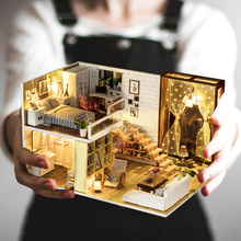 Doll house model toys role play elegant house  furnishing articles Contracted city room children toys kids educational toys doll house model toys role play elegant house furnishing articles flower town room children toys kids educational toys