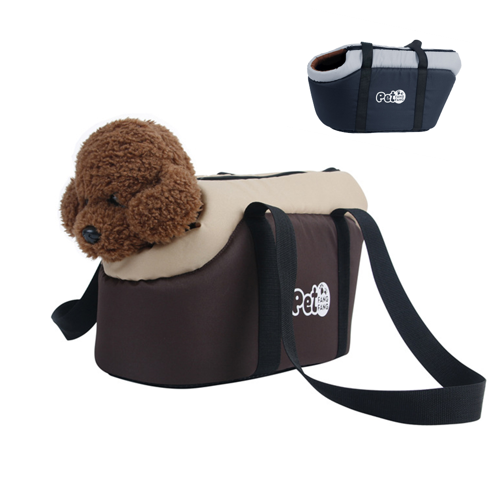 Soft and Breathable Pet Carrier Bag with Built In Hook and Zipper to Carry Small Dogs and Cats for Travel