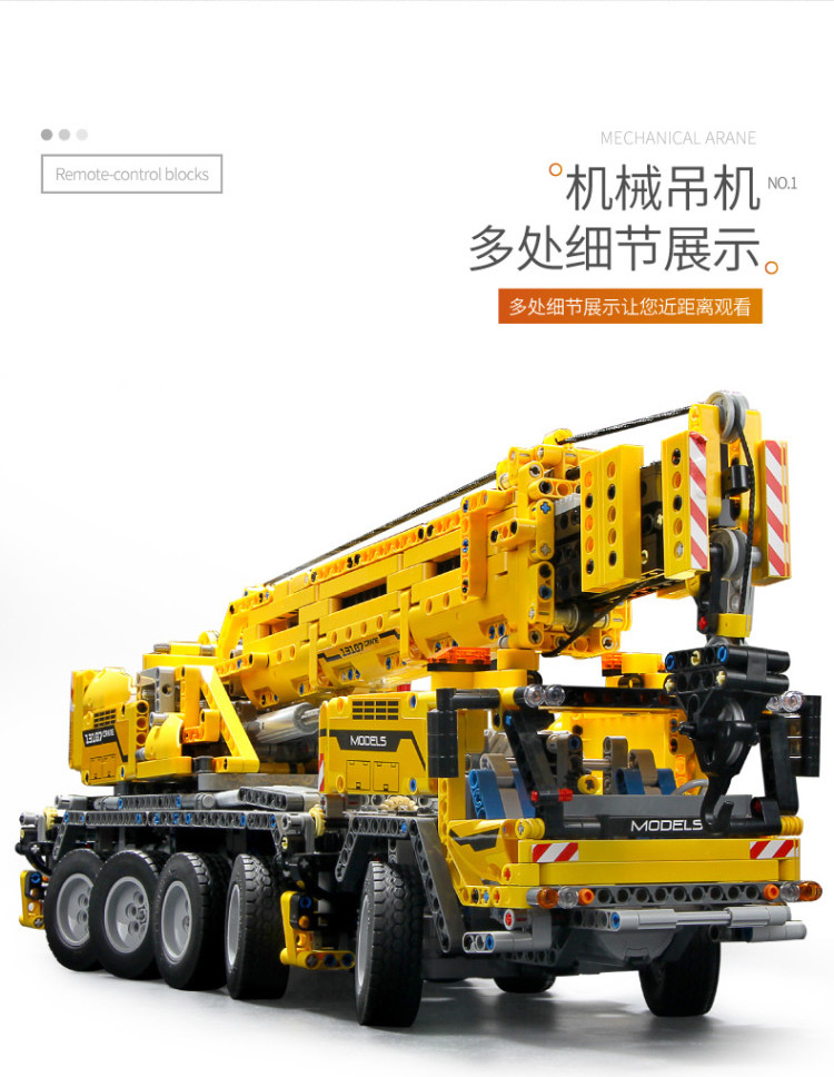 MOULD KING 13107 Compatible 42009 Technic SCrane Mk II Building Block (2590PCS) 9
