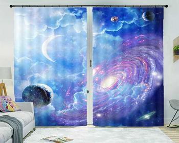rideaux cuisine Starry sky luxury european curtains Living room bedroom vorhang schlafzimmer blackout