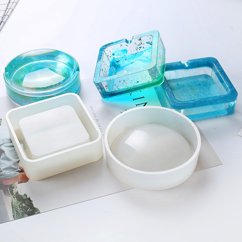 DIY Mold Ashtray Dried Flower Coaster Flexible Silicone Mold Epoxy Resin Making Craft Clay Resin Molds Jewelry Making Accessorie