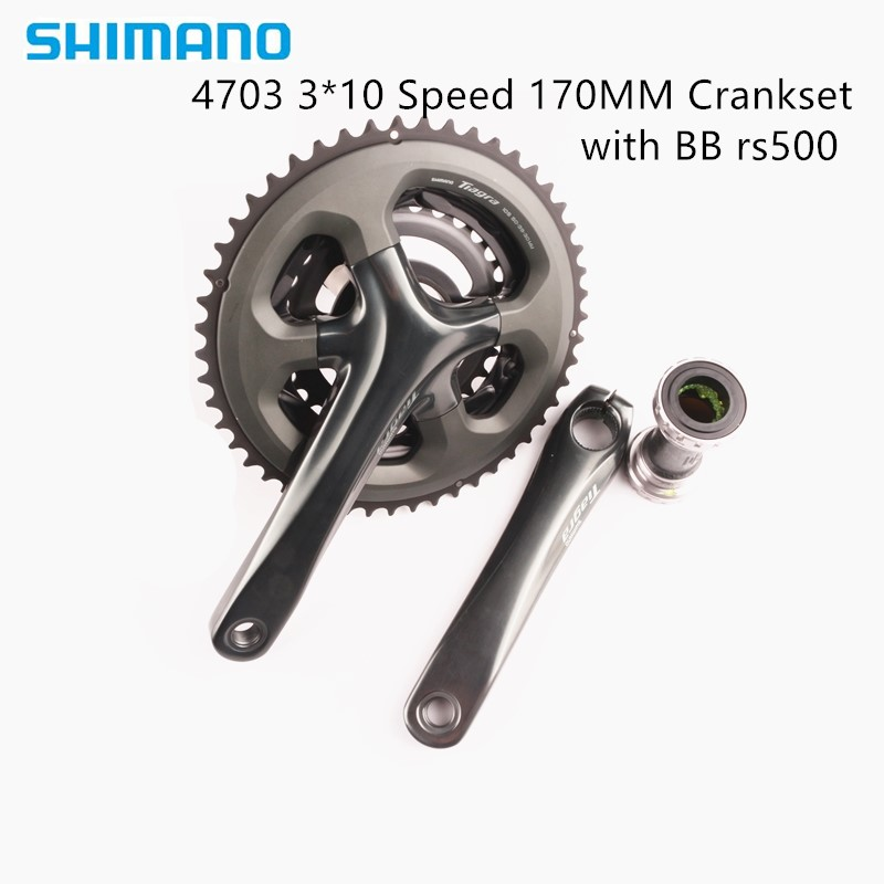 Shimano <font><b>TIAGRA</b></font> 4703 50-39-30T 3x10 Speed 170 Crankset Road Bicycle Parts FC-4703 Crank 30 Speed With BB-RS500 Accessories image