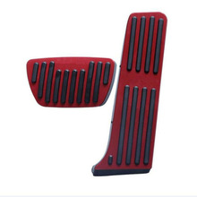 2pcs No Drilling Gas Brake Foot Pedal Cover Red aluminum alloy Covers practical for Toyota RAV4 Rongfang 2019-2020