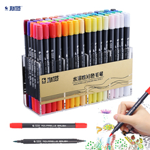 12/24/36/48/80 color water-soluble double-head color sketch marker pen for painting design watercolor paint art supplies