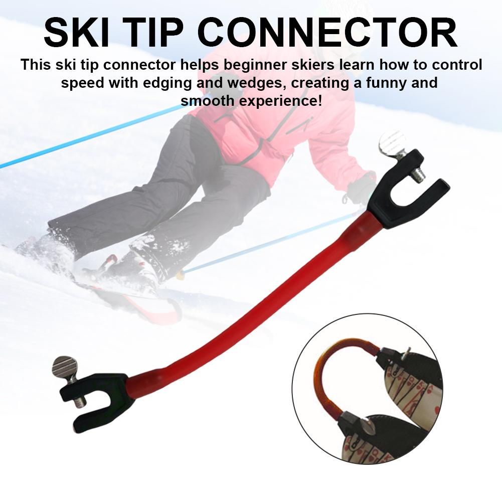 Ski Tip Connector Compact Elasticity Fixer Perfect For Ski Beginners Profession Essential Ski Equipment Snowboard Essential/FFY/