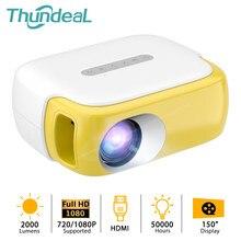 Thundeal 2000lumen mini projetor td860 portátil projetor para vídeo 1080p proyector de cinema em casa inteligente crianças beamer crianças presente
