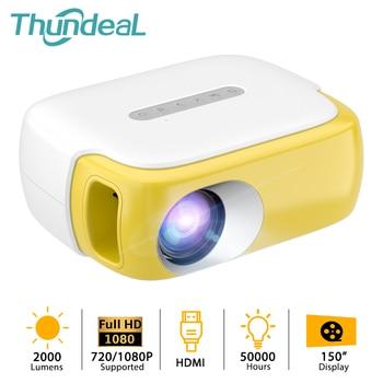 ThundeaL-miniproyector portátil para cine en casa para niños, 2000 lúmenes, TD860, 1080P, regalo para niños