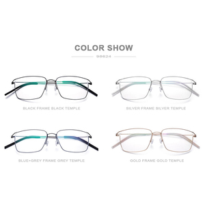 Image 5 - FONEX Titanium Alloy Optical Prescription Glasses New Women Myopia Eyeglasses Frame Men Ultralight Screwless Eyewear 98624