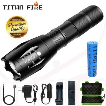 Linterna Led T20 Q250 Ultra brillante T6/L2/V6, con zoom, 5 modos, luz...