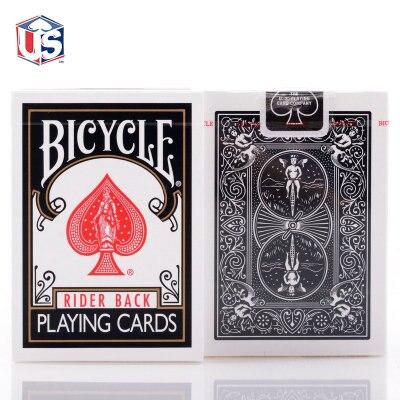 Bicicleta clássico preto deck rider voltar jogando cartas índice padrão poker magia jogos de cartas truques de magia adereços para o mágico