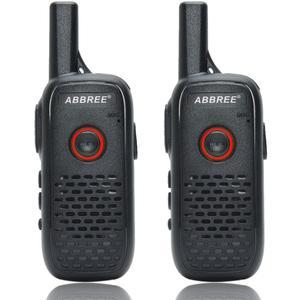 Image 1 - 2 sztuk ABBREE AR Q2 Mini przenośne walkie talkie podwójny PTT ładowania USB VOX dwukierunkowe Radio Transceiver przenośny UHF 400  470MHz