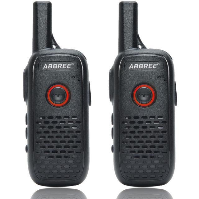 2 sztuk ABBREE AR Q2 Mini przenośne walkie talkie podwójny PTT ładowania USB VOX dwukierunkowe Radio Transceiver przenośny UHF 400  470MHz