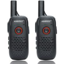 2pcs ABBREE AR Q2 Mini Draagbare Walkie Talkie Dual PTT USB Charge VOX Two Way Radio Handheld Transceiver UHF 400 470MHz