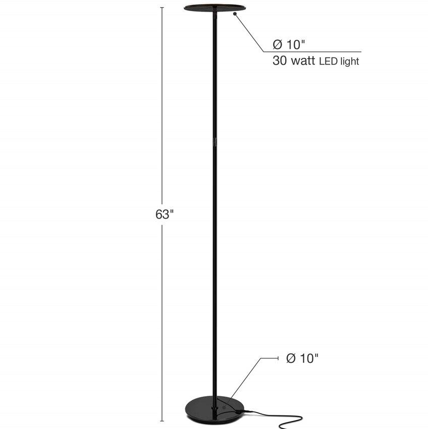 Moderno conduziu a lâmpada de assoalho ajustável