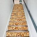 13 шт./компл. самоклеющиеся наклейки для лестницы с деревянным рисунком Настенная Наклейка для лестницы водонепроницаемые домашние обои дек...