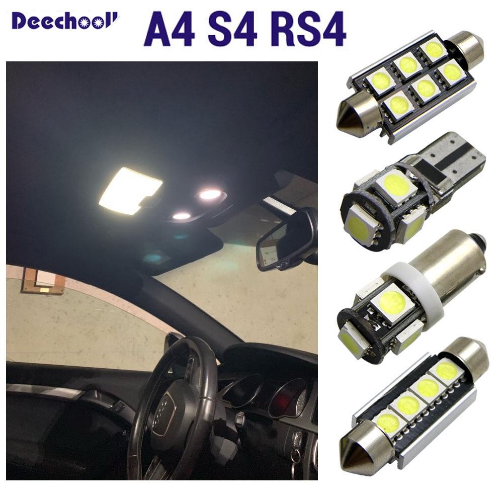 14pcs White LED Bulb Interior Kit For Audi A4 B7 Avant Error Free Lamp Light