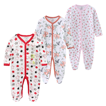 0-12Months Baby Rompers Newborn Girls&Boys 100%Cotton Clothes of Long Sheeve 1/2/3Piece Infant Clothing Pajamas Overalls Cheap - baby romper14, 12M