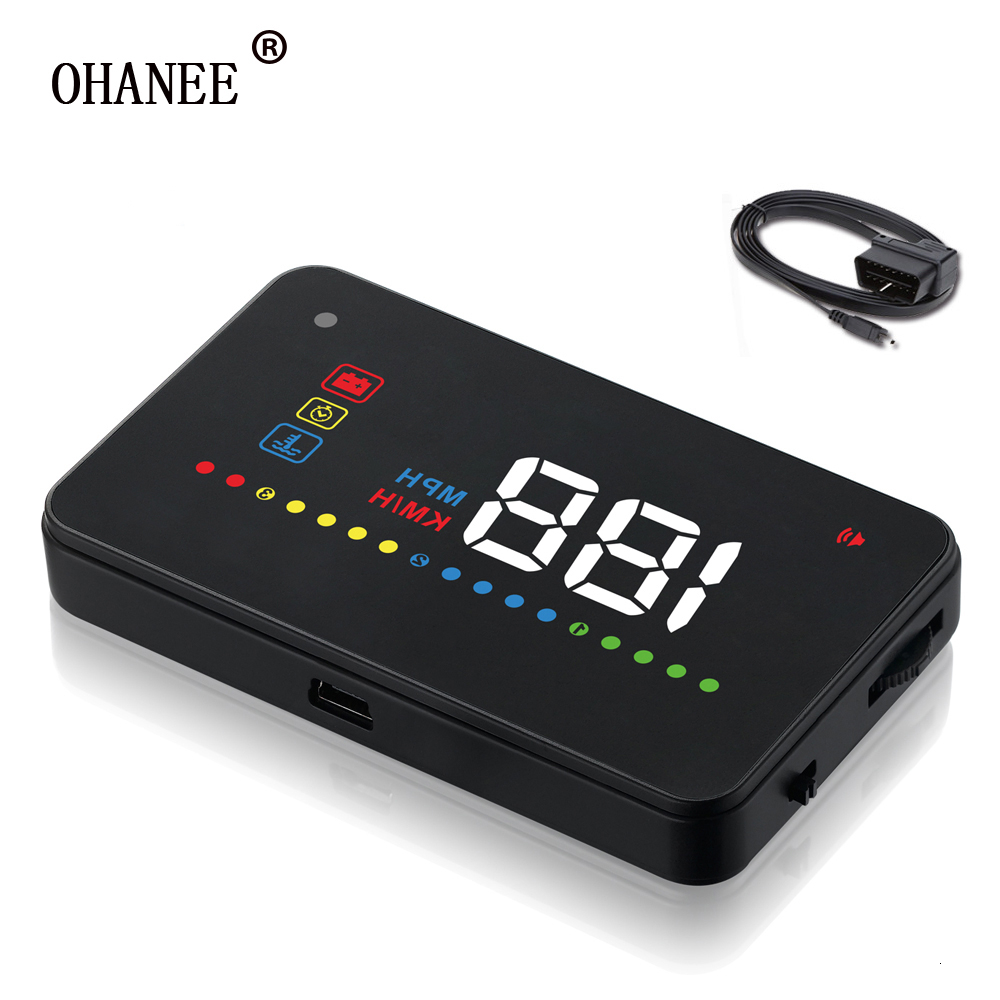 OHANEE Car Projector Speedometer OBD2/OBDII 3.5 Inch Car HUD A200 Car Head Up Display HUD Newest Best Sell
