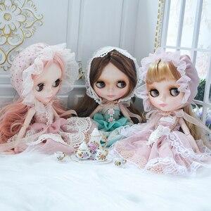 Image 2 - Néo Blyth poupée personnalisée NBL visage brillant, 1/6 OB24 BJD boule articulée poupée personnalisée Blyth poupées pour fille, cadeau pour Collection