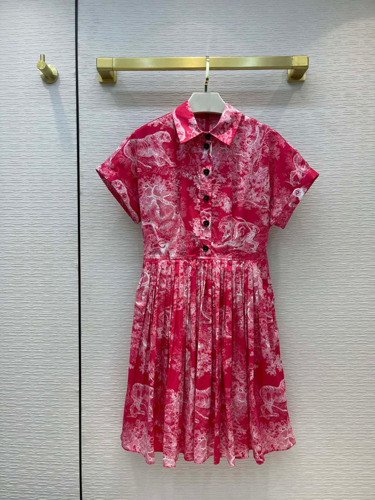 Jungle Animal Print Dress for Women Summer 2021 Retro Style High Waist Slim Dress High-end Brand Top Quality Cotton Party Dress