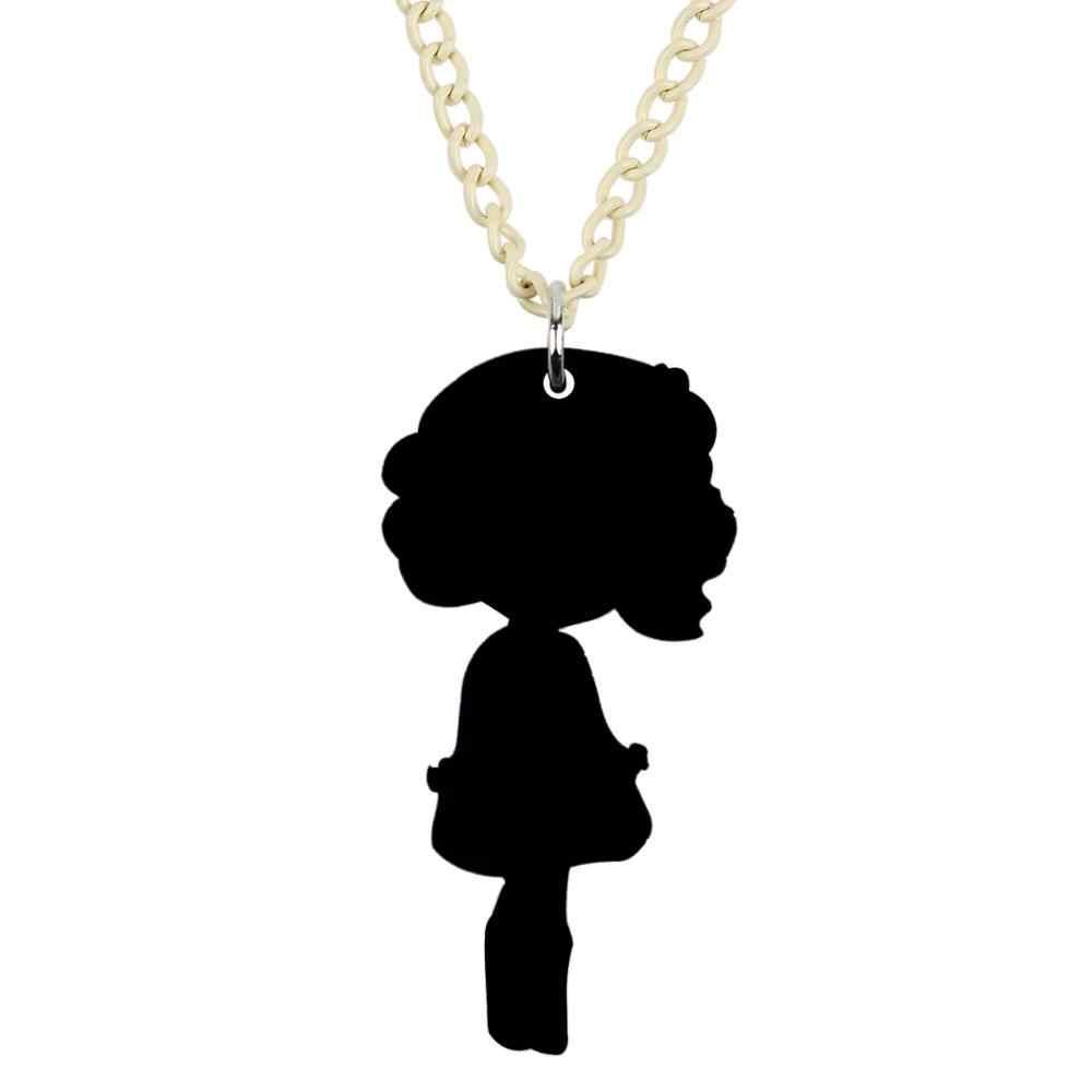 Bonsny Acrylic สั้นสีดำชุดสาวสร้อยคอจี้ Choker หวานเครื่องประดับสำหรับหญิงเลดี้เด็ก Charms ของขวัญออกแบบใหม่ 2019