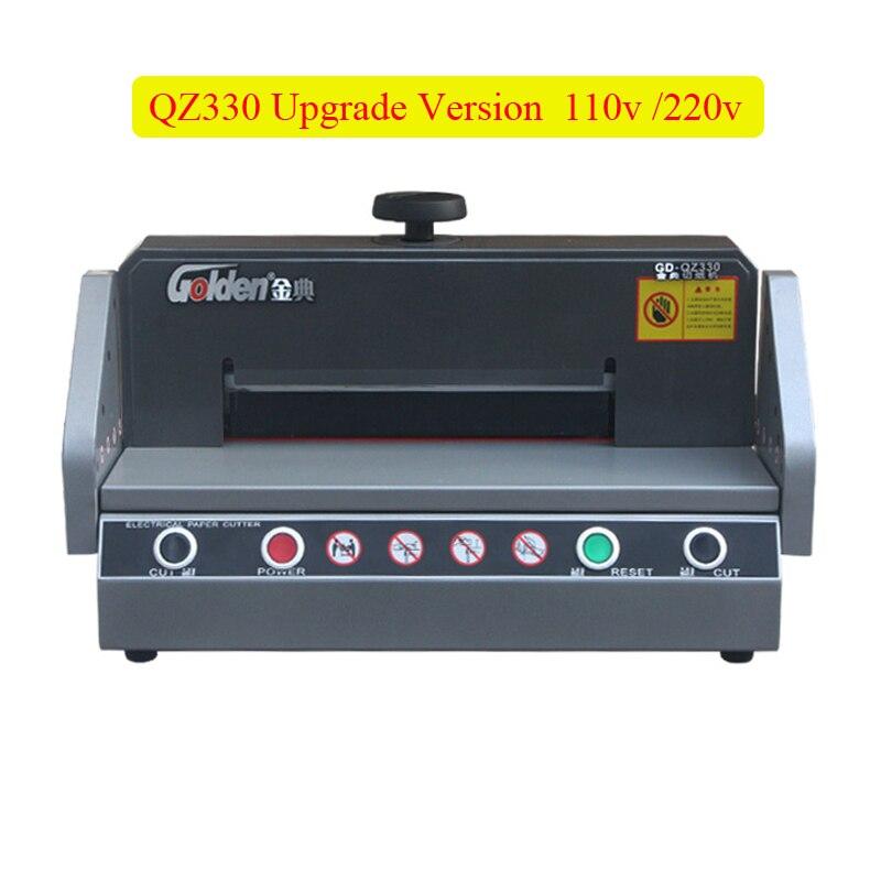 Coupeur de papier électrique automatique QZ330 machine de découpe de papier de bureau à domicile A4 taille coupe-papier 220 V/110 V 180w